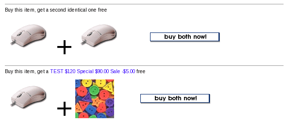 Zen Cart Buy Both Now