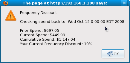 Frequency Discount Explanation