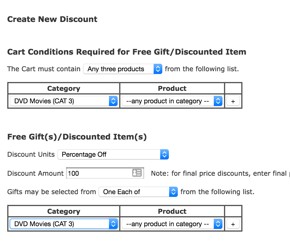 Discount Chooser Admin Panel