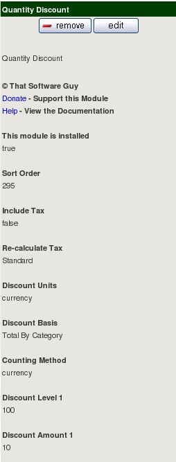 Zen Cart Configuration of Quantity Discounts
